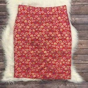J. Crew Metallic Floral Pencil Skirt 6